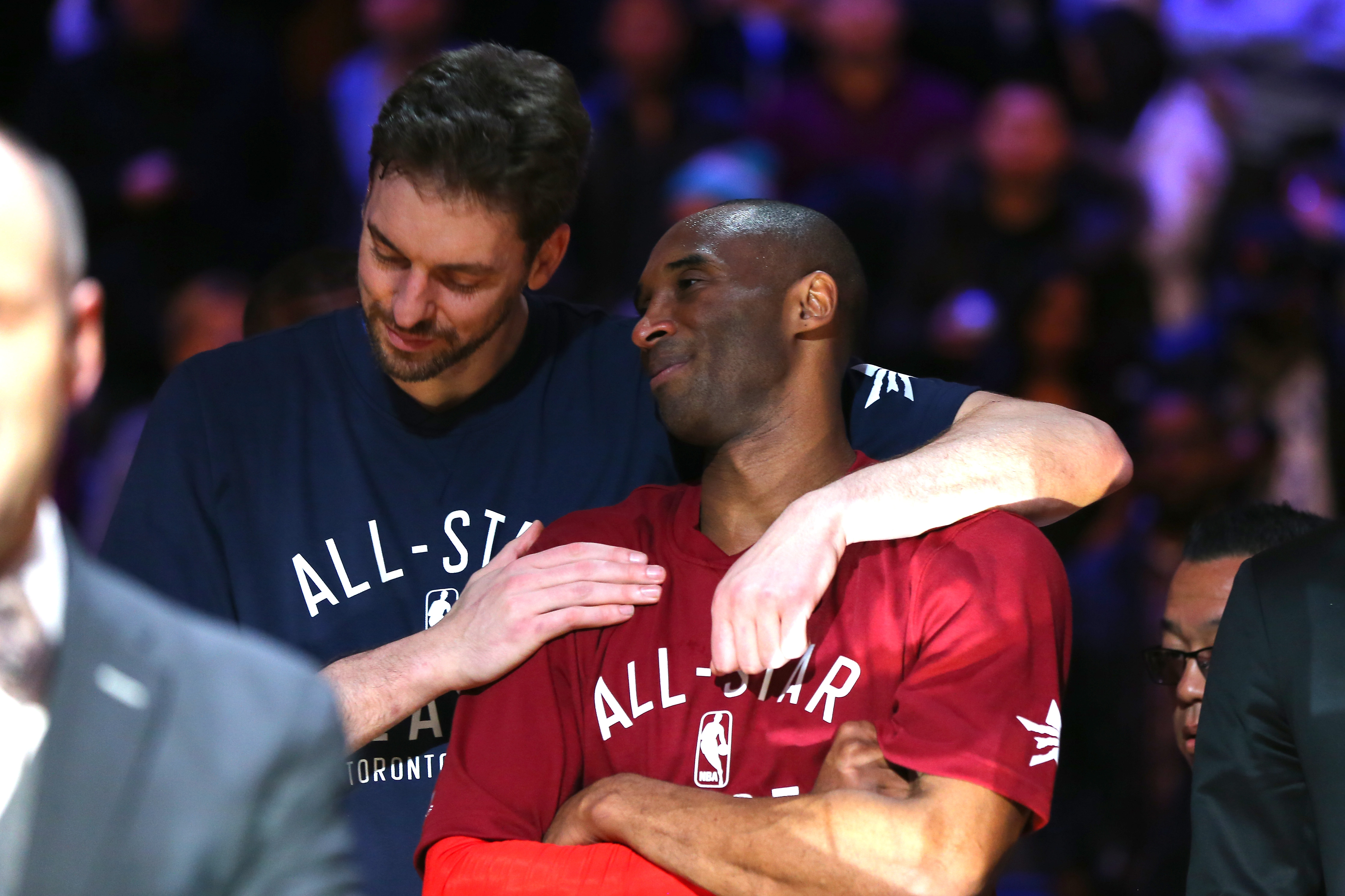Kobe Bryant and Pau Gasol in 2016