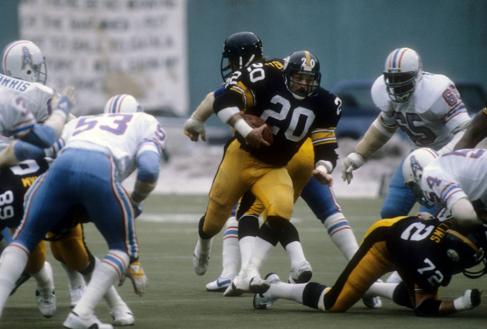 Longtime Steelers running back Rockey Bleier returned to the NFL after he suffered a grenade-related injury.