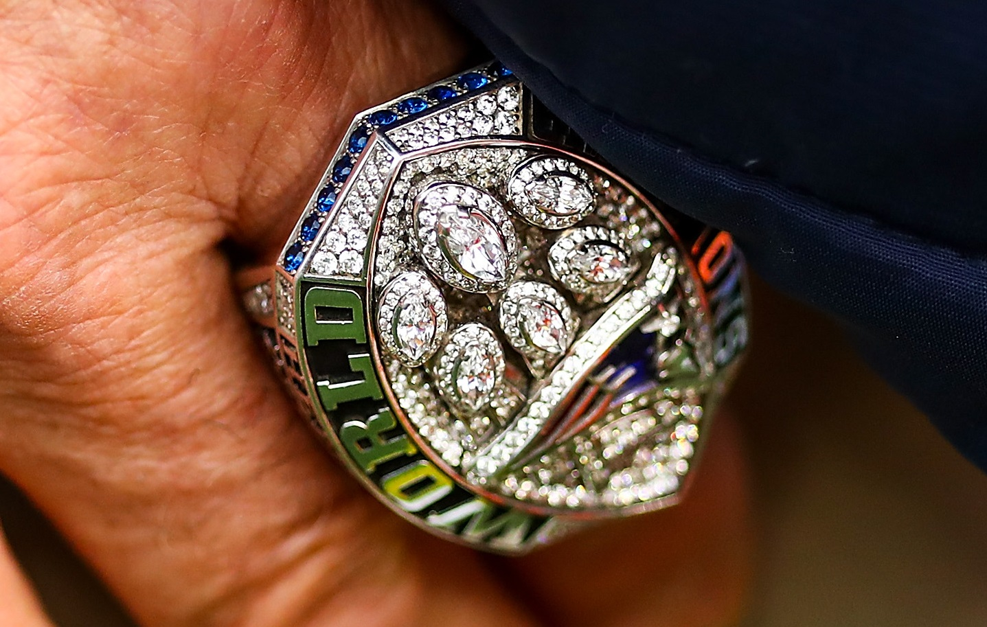 The New England Patriots are believed to have presented about 150 Super Bowl 53 rings to players, coaches, and staff. | Adam Glanzman/Getty Images