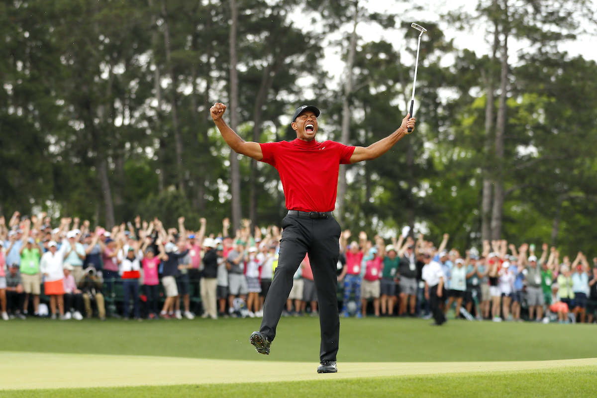 Golfer Tiger Woods at The Masters