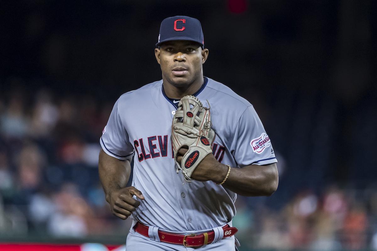 Cleveland Indians' Yasiel Puig
