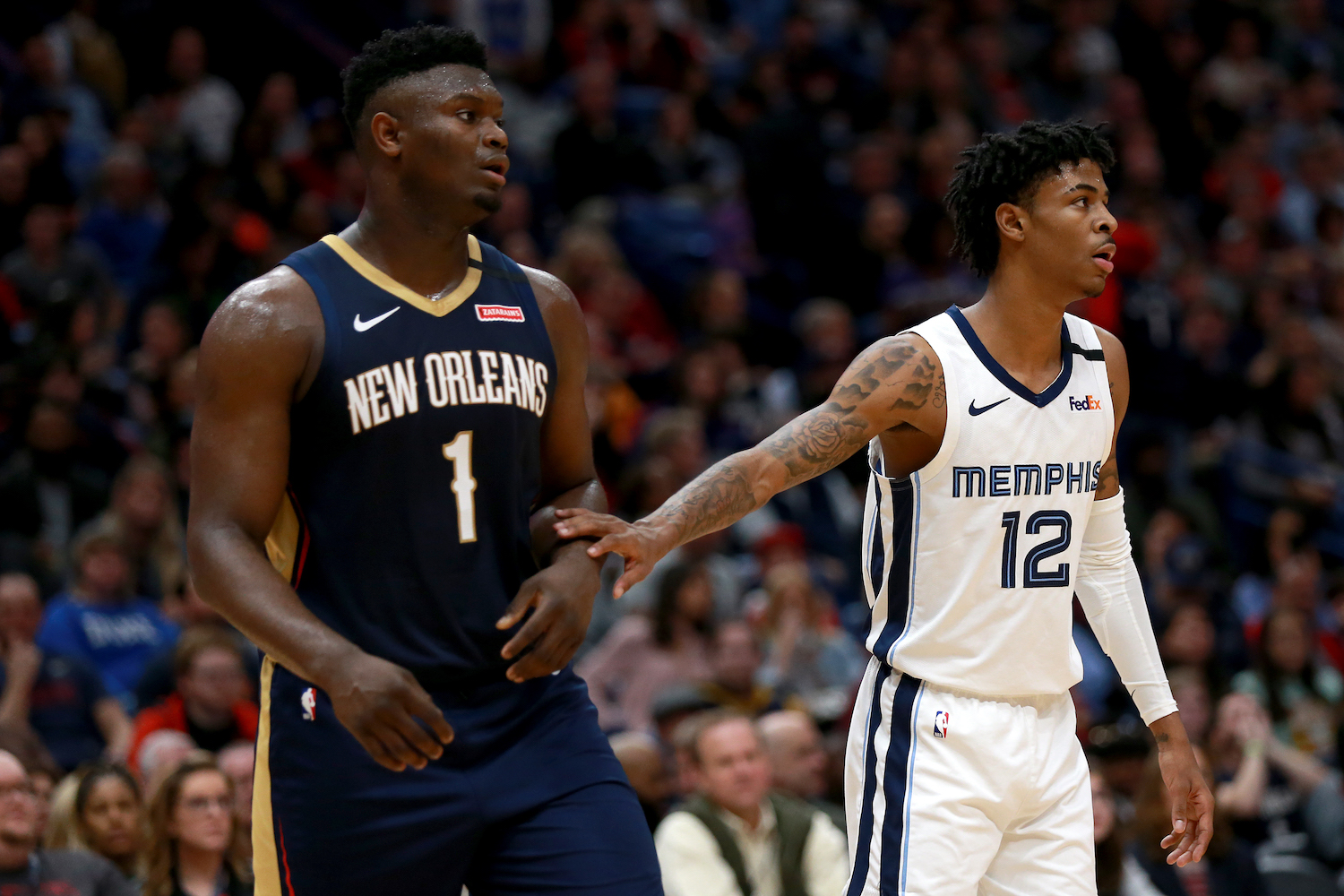 Zion Williamson Looking to Steal Rookie of Year Award From Ja Morant