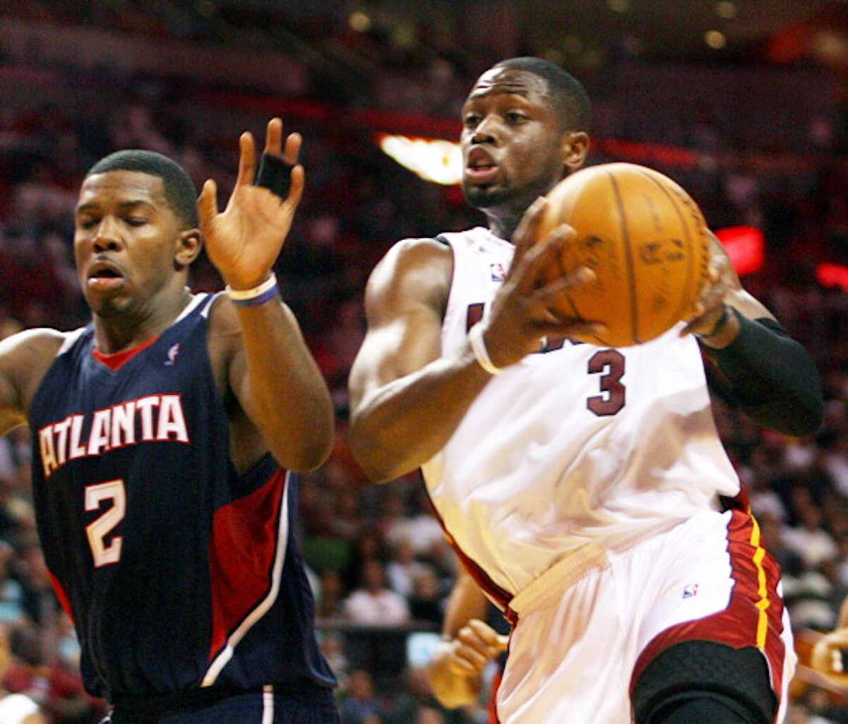 Dwyane Wade and Joe Johnson