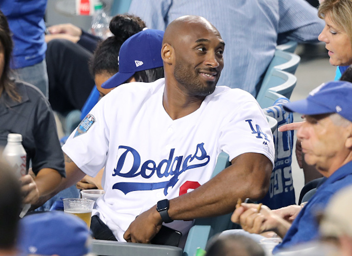 Kobe Bryant at a Dodgers game