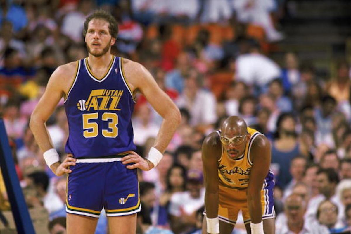 Mark Eaton with the Utah Jazz