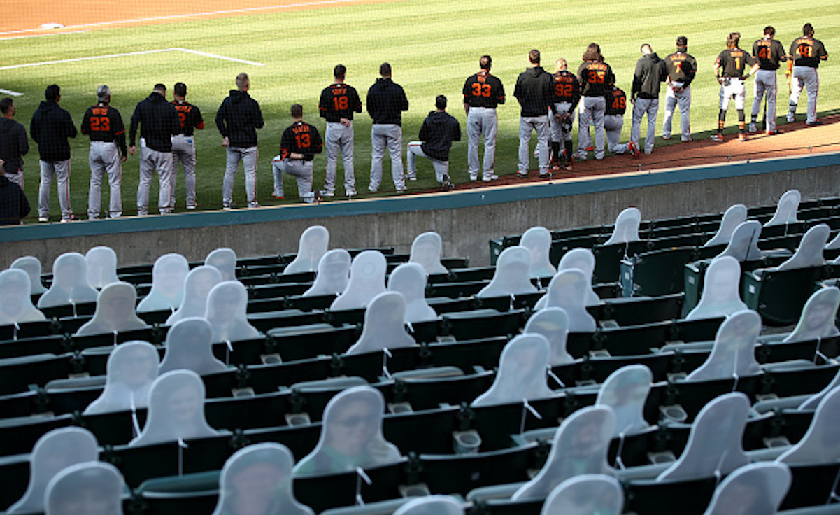 The MLB Isn't Wasting Any Time Supporting Players Kneeling for the National Anthem