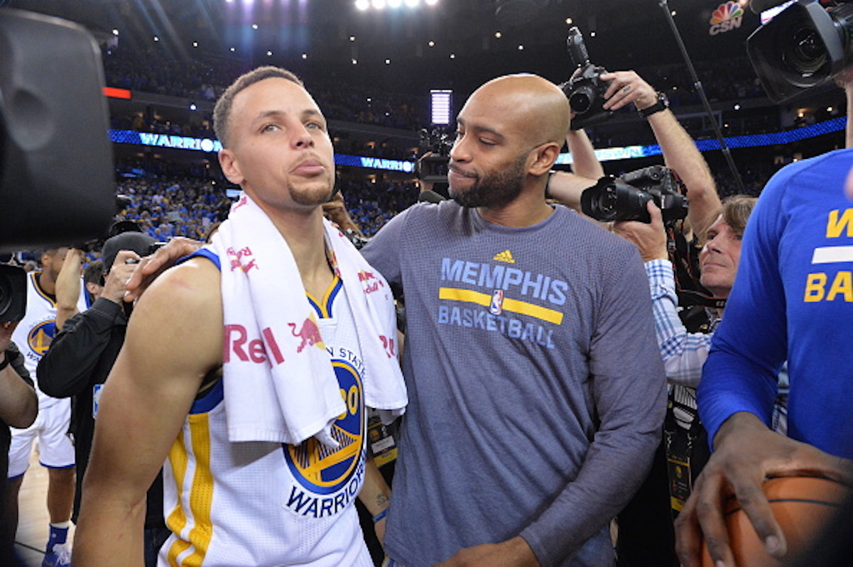 Steph Curry and Vince Carter