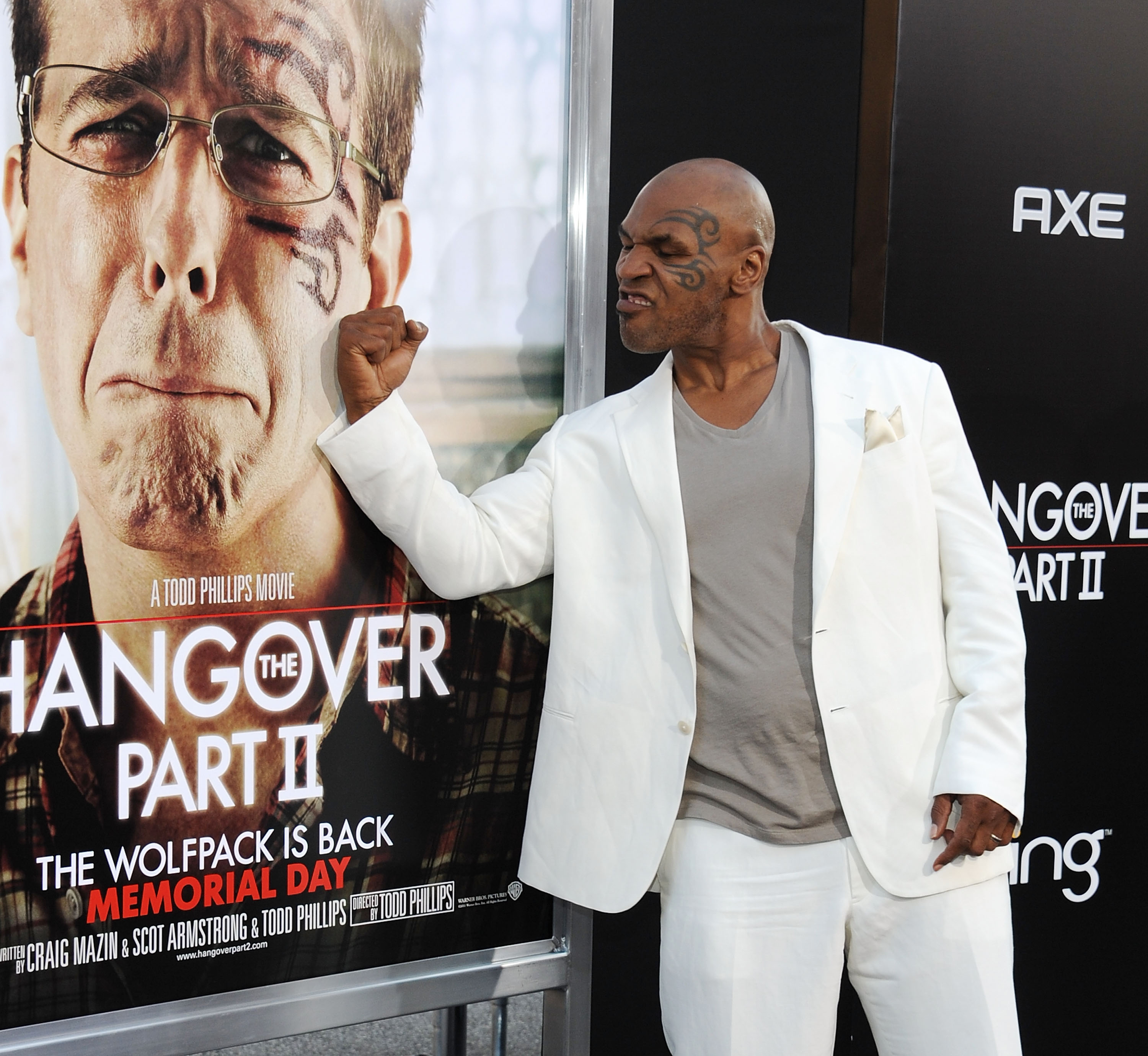 Mike Tyson attends The Hangover II premiere