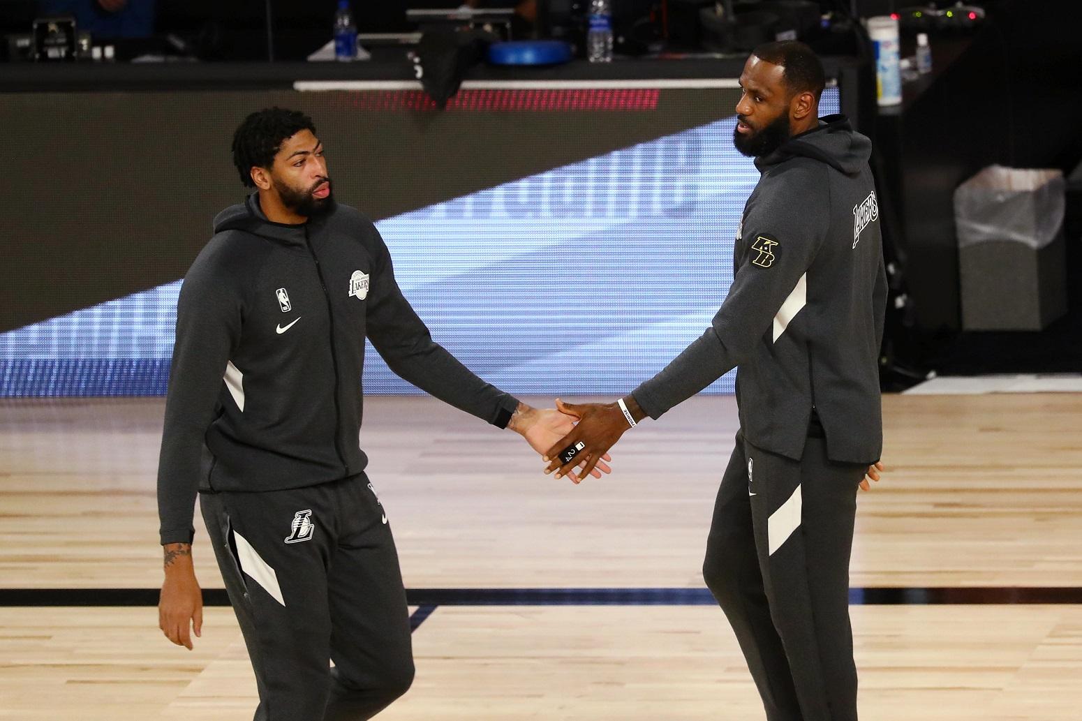 LeBron James Anthony Davis Lakers NBA playoffs