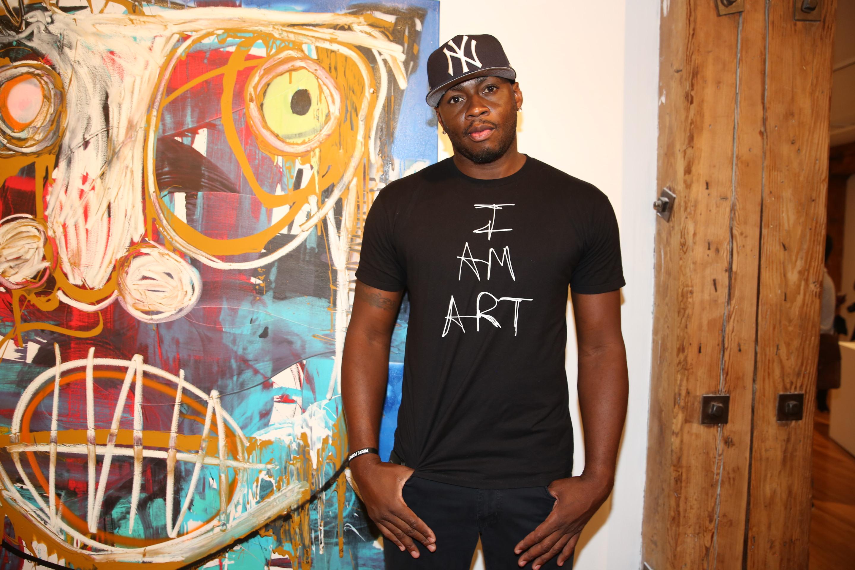 Artist and NBA player Desmond Mason