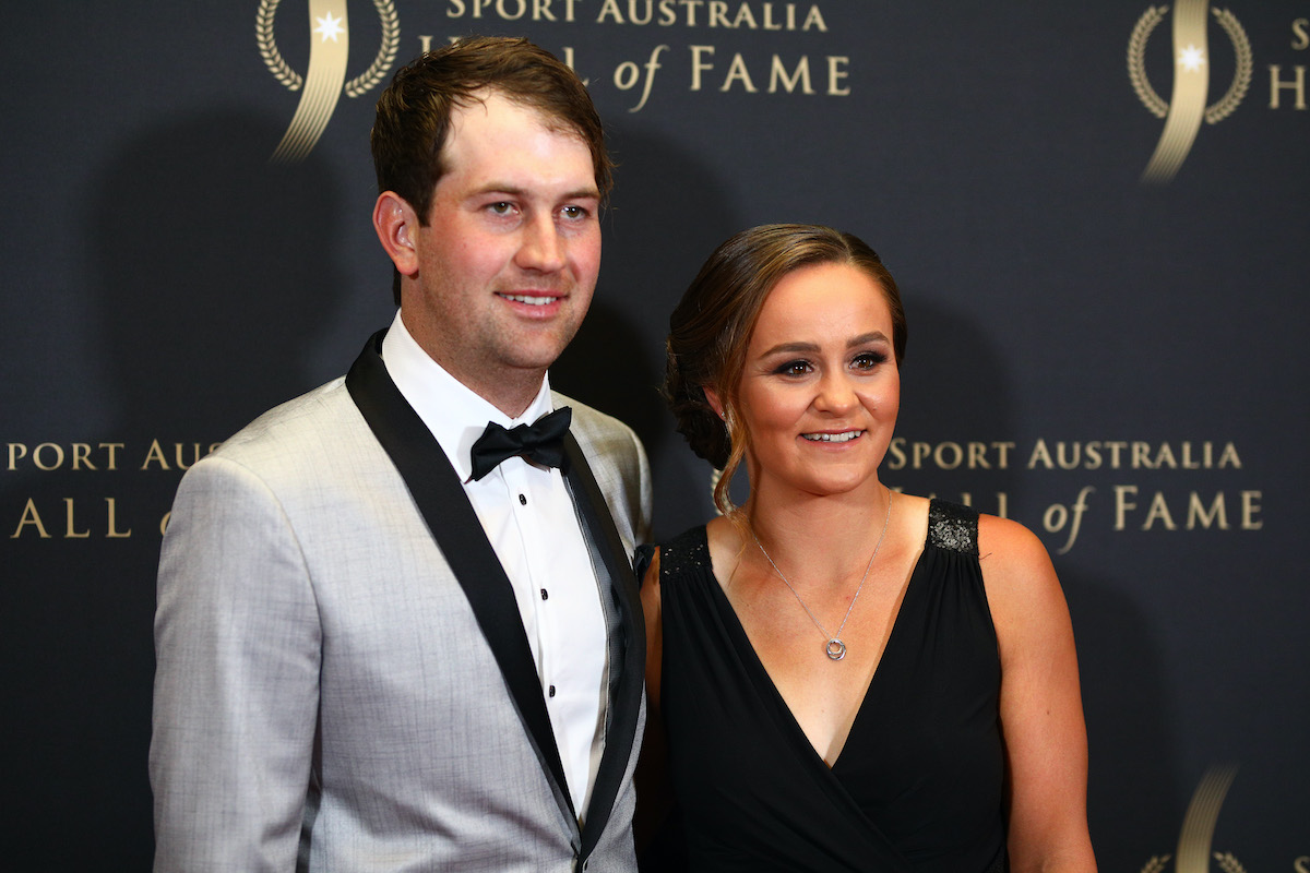 Tennis player Ashleigh Barty and boyfriend Garry Kissick