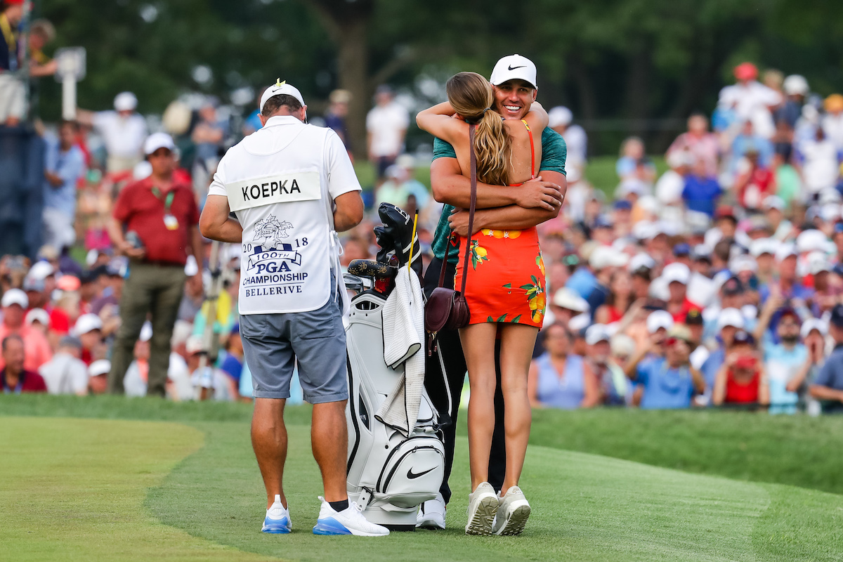 Brooks Koepka and girlfriend, Jena Sims