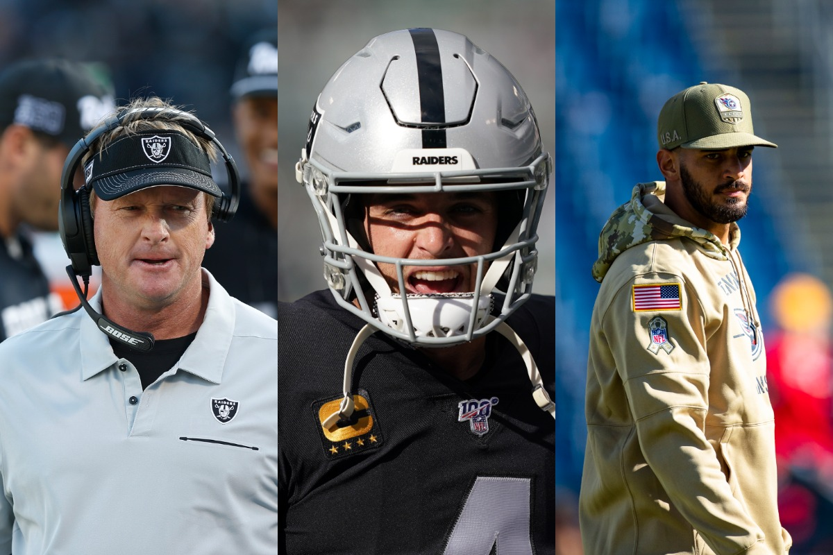 The Jon Gruden-Derek Carr relationship could be entering its final weeks. Gruden isn't hiding his desire to replace Carr with Marcus Mariota.
