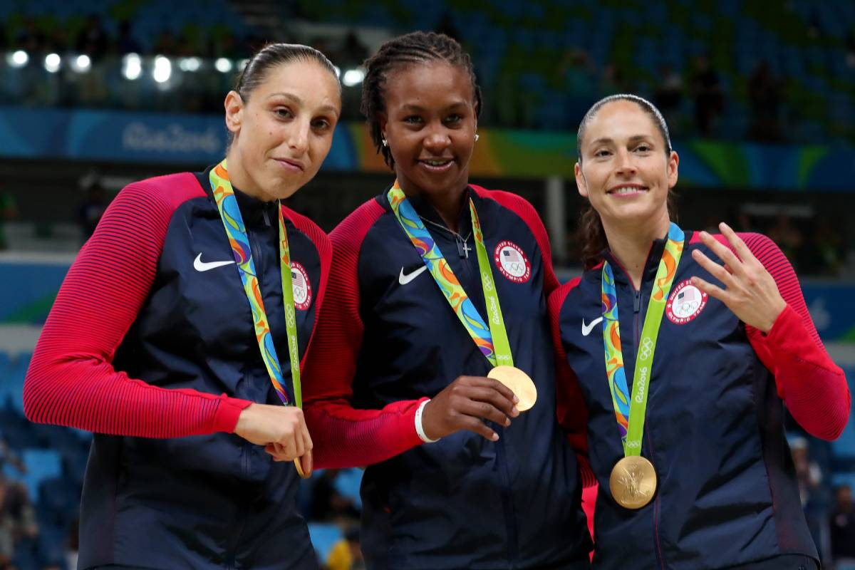 The trio of Diana Taurasi (L), Tamika Catchings (C), and Sue Bird all rank among the WNBA's all-time leading scorers.