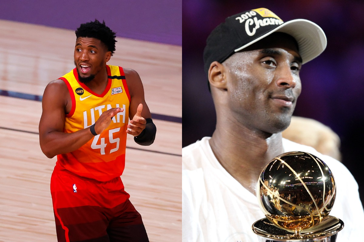 """A radio host said Jazz star Donovan Mitchell (L) is the """"closest thing to Kobe Bryant."""""""