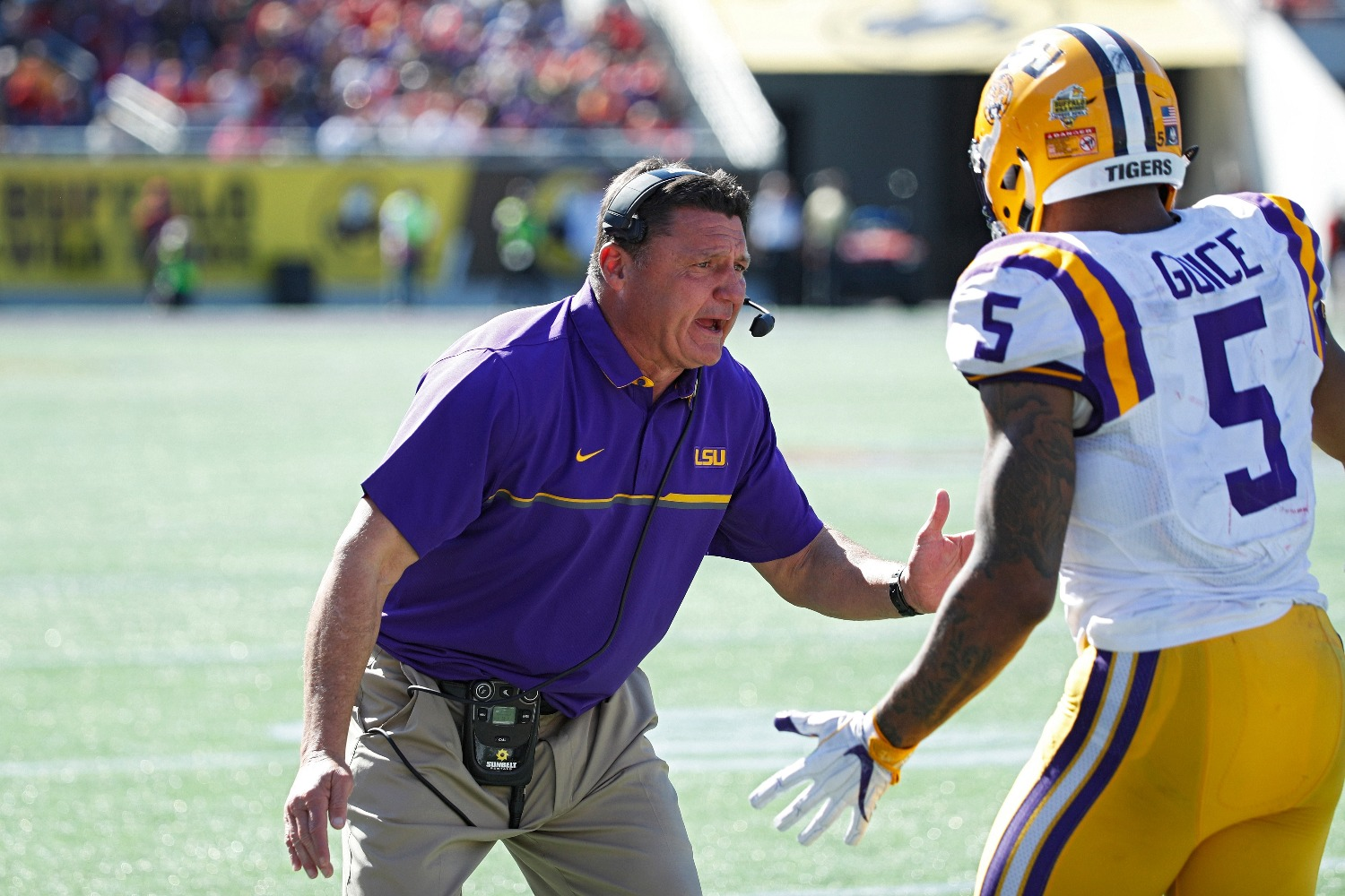 LSU head coach Ed Orgeron delivered a powerful denial that he had knowledge of the rape allegations against Derrius Guice, who starred for the Tigers before getting drafted by the Washington Football Team.