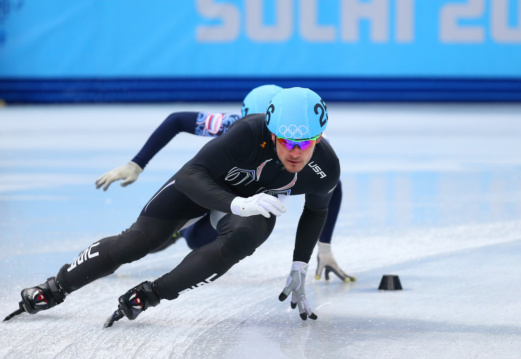 Eddy Alvarez represented the United States in Sochi during the 2014 Winter Olympics. | Matthew Stockman/Getty Images