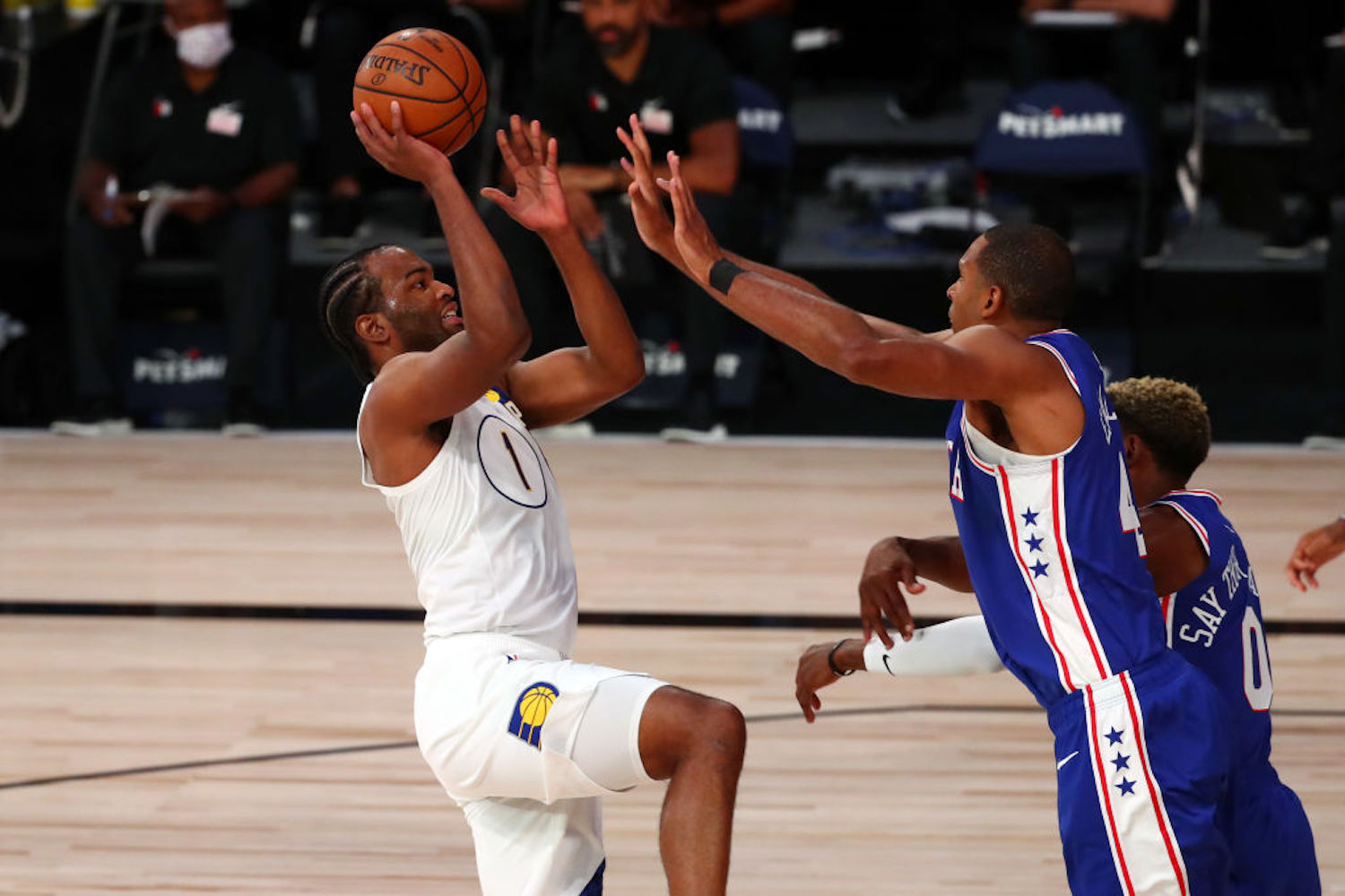 T.J. Warren lit the NBA bubble on fire with 53 points against the 76ers Saturday, and he joined the Splash Brothers in history in the process.