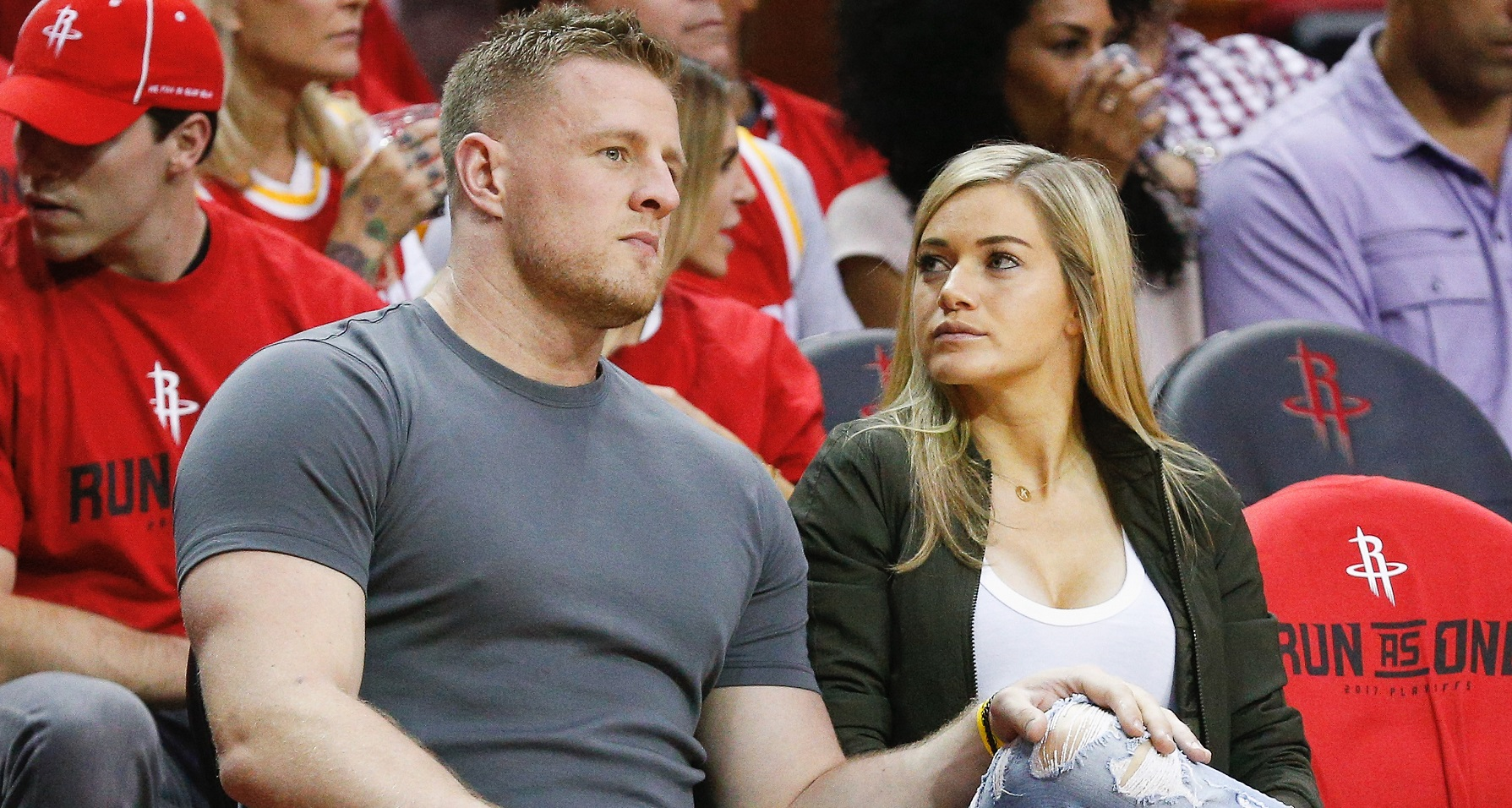 J.J. Watt and wife Kealia Ohai