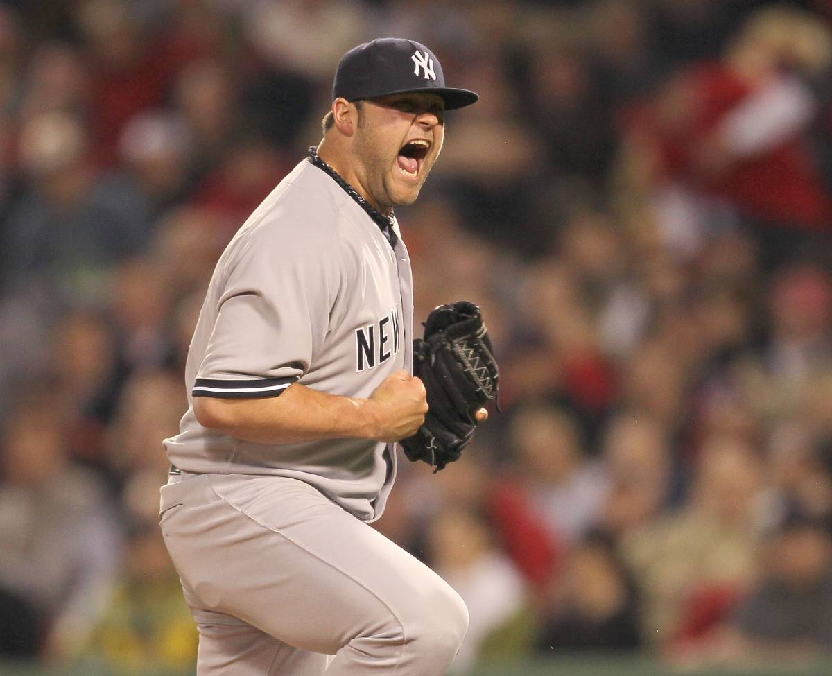 Joba Chamberlain and his emphatic fist pumps won a World Series title with the New York Yankees in 2009.