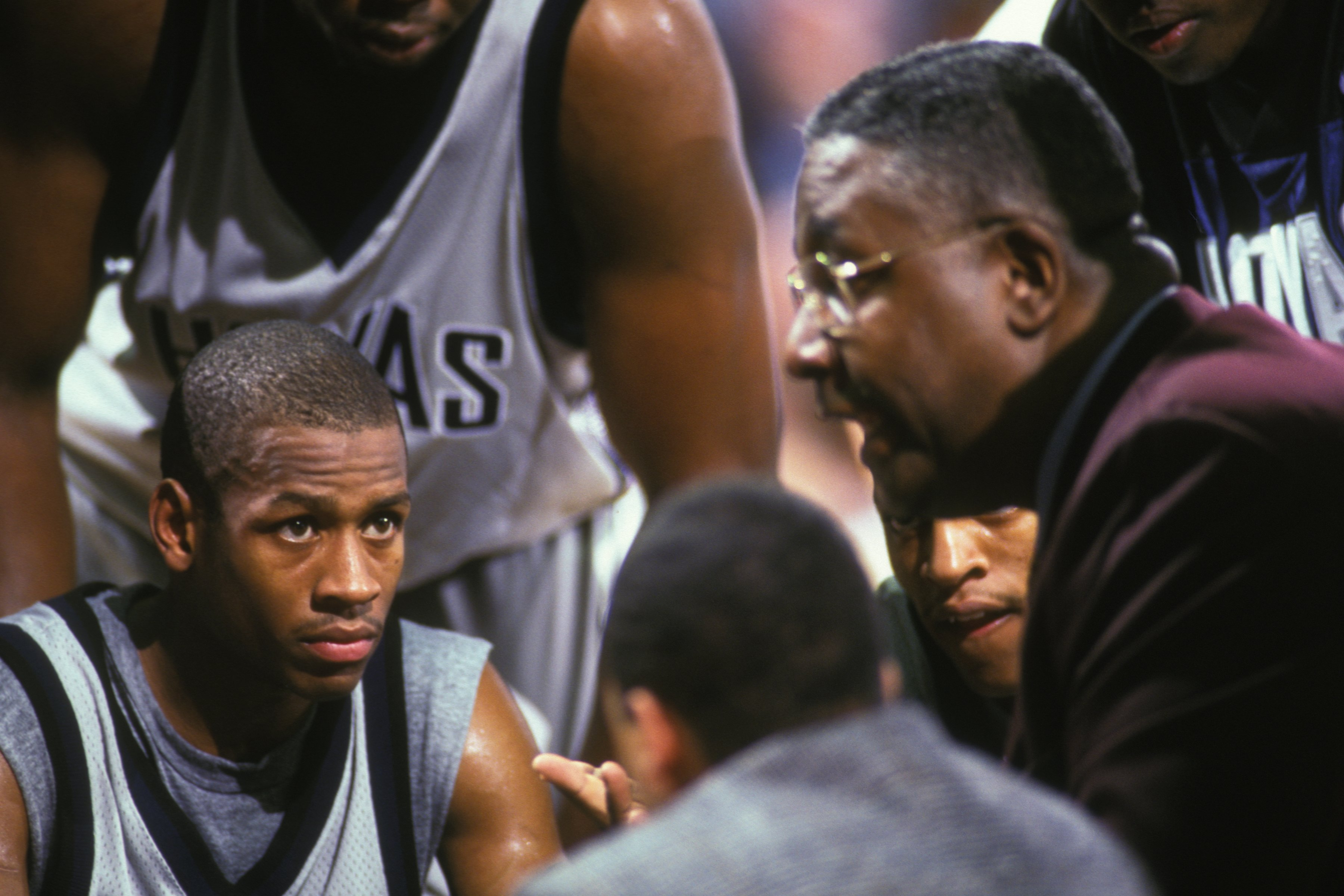 John Thompson (R) coached Allen Iverson (L) at Georgetown in the 1990s.