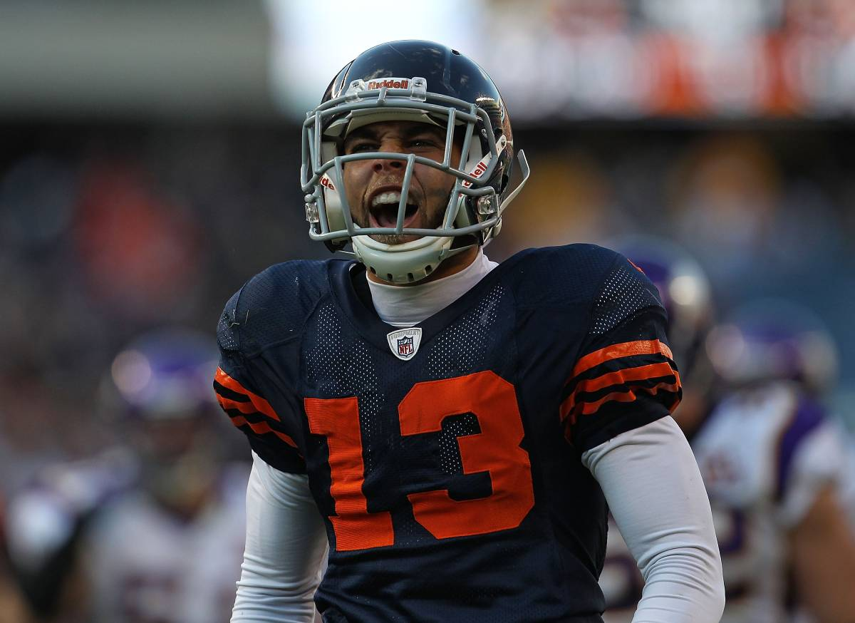 Former Chicago Bears receiver Johnny Knox played three seasons before he sufered a serious spinal injury in 2011.