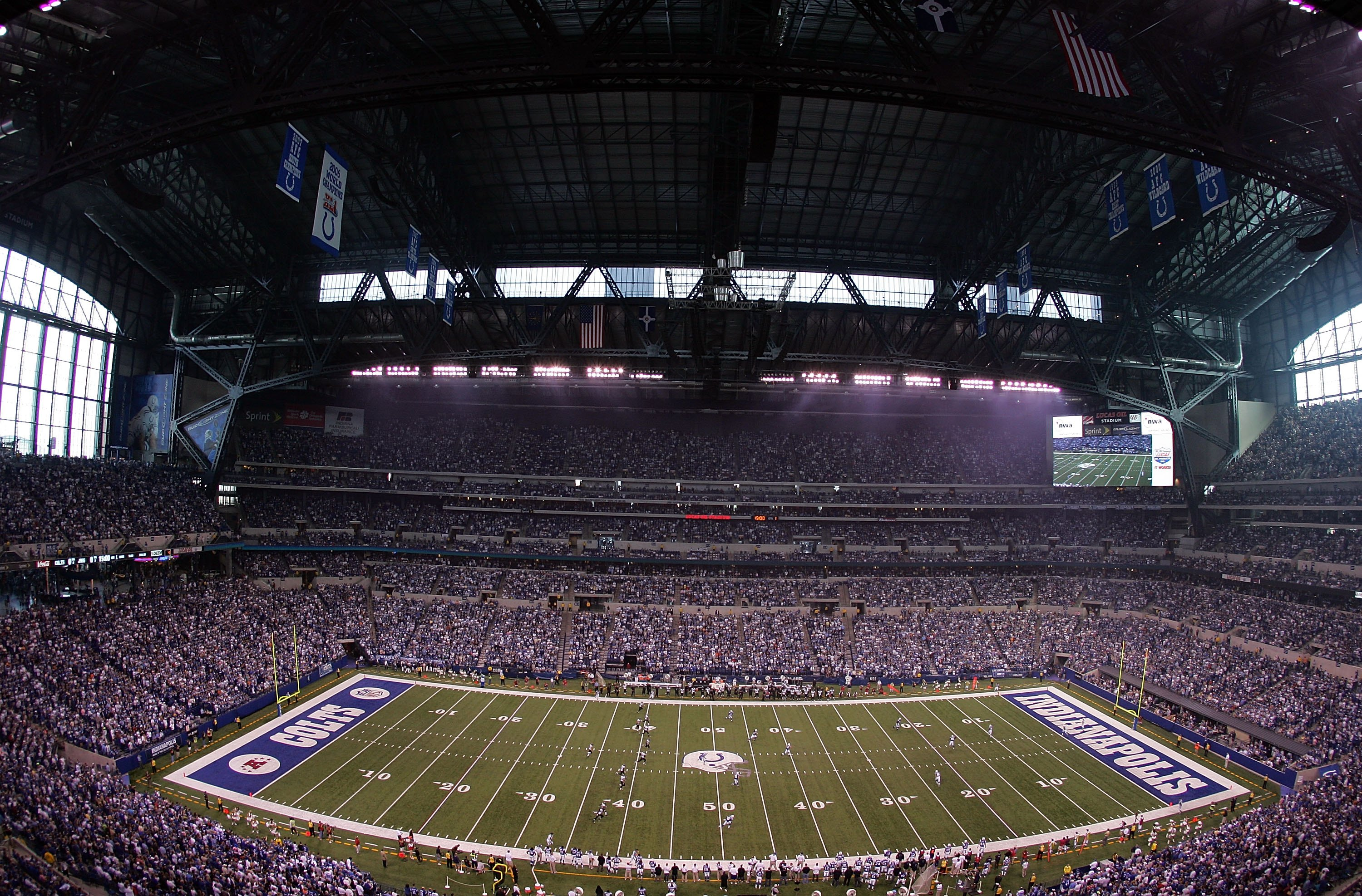 A view from the top of Lucas Oil Stadium