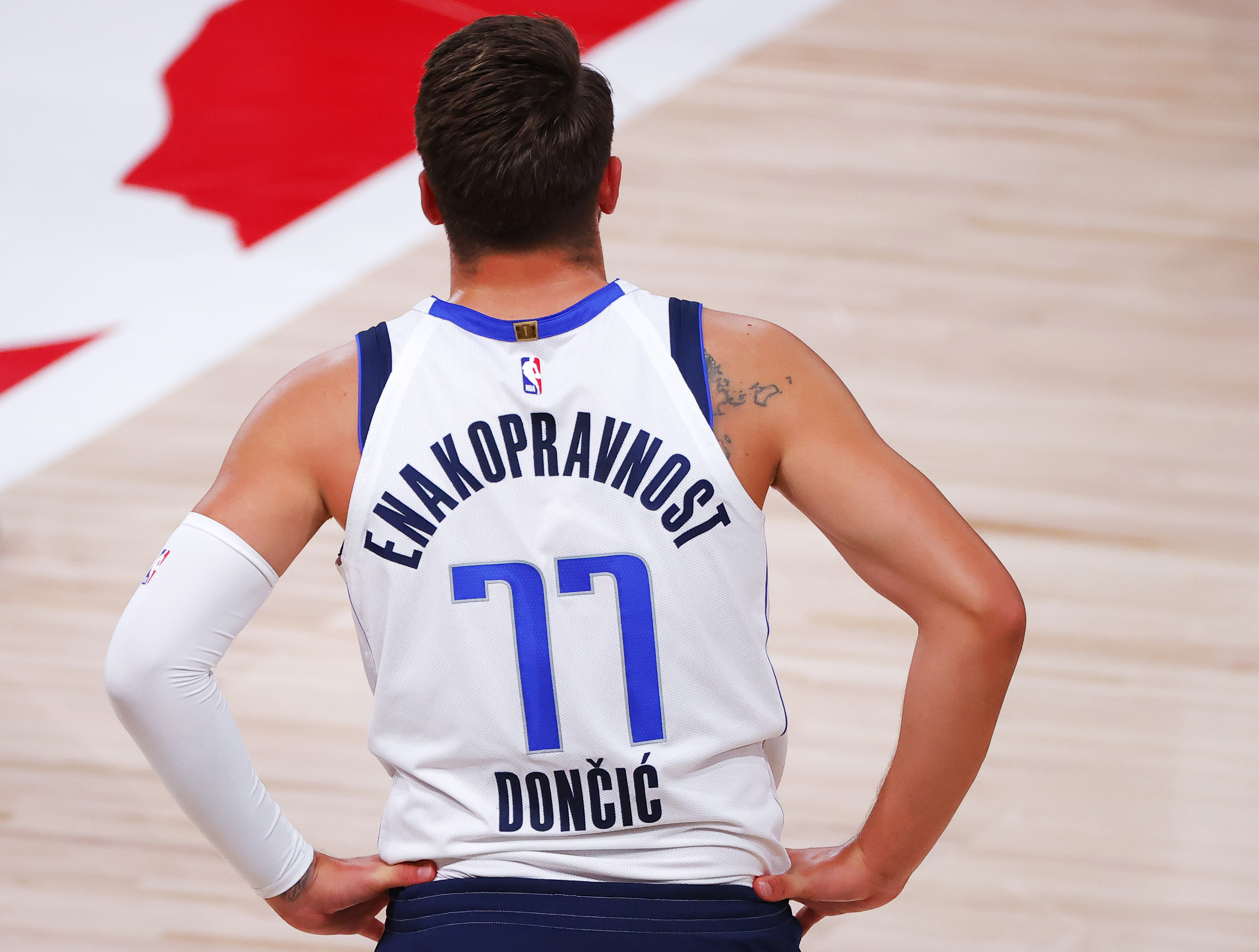What's the Message on the Back of Luka Doncic's Jersey?