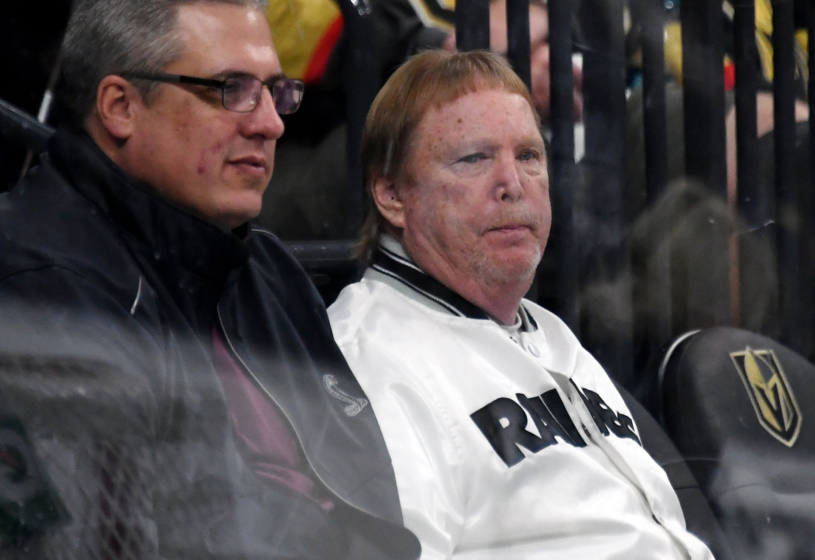 Raiders owner Mark Davis at a Golden Knights hockey game