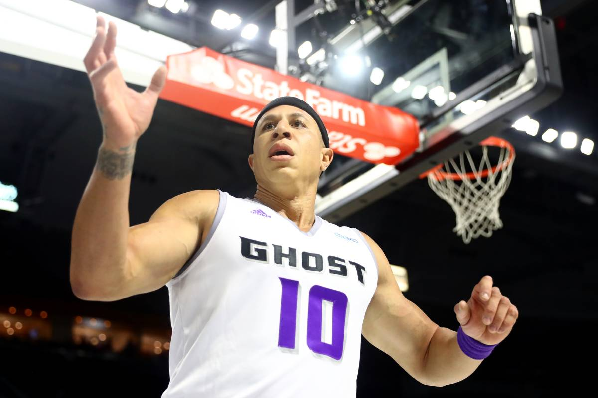 Former Sacramento Kings guard Mike Bibby, seen playing for the BIG3, bulked up in retirement.