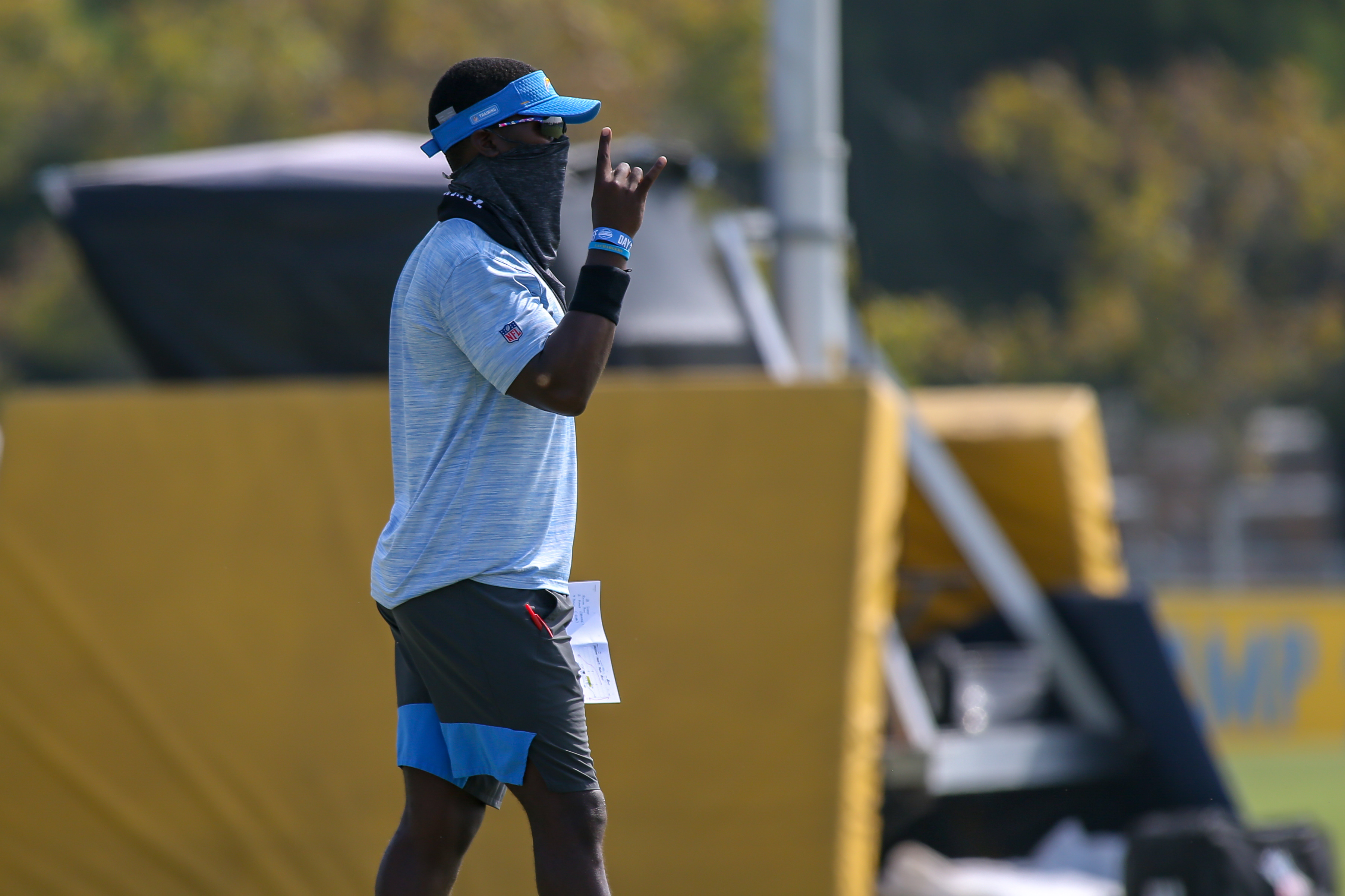 Los Angeles Chargers assistant coach Addison Lynch at training camp