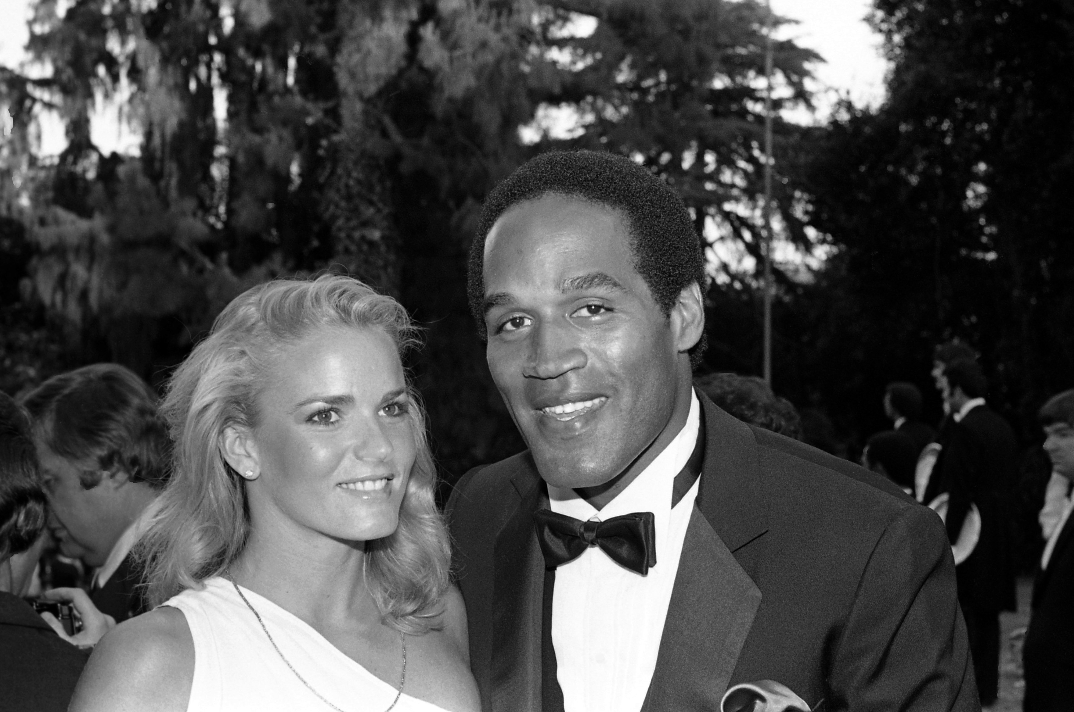 O.J. Simpson and Nicole Brown