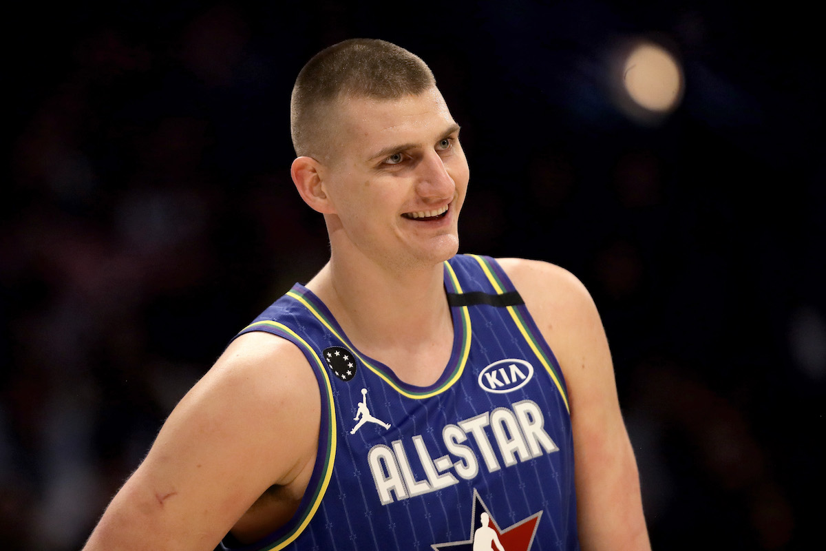 Nikola Jokic playing basketball