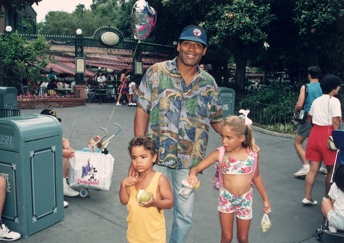 O. J. Simpson with his children
