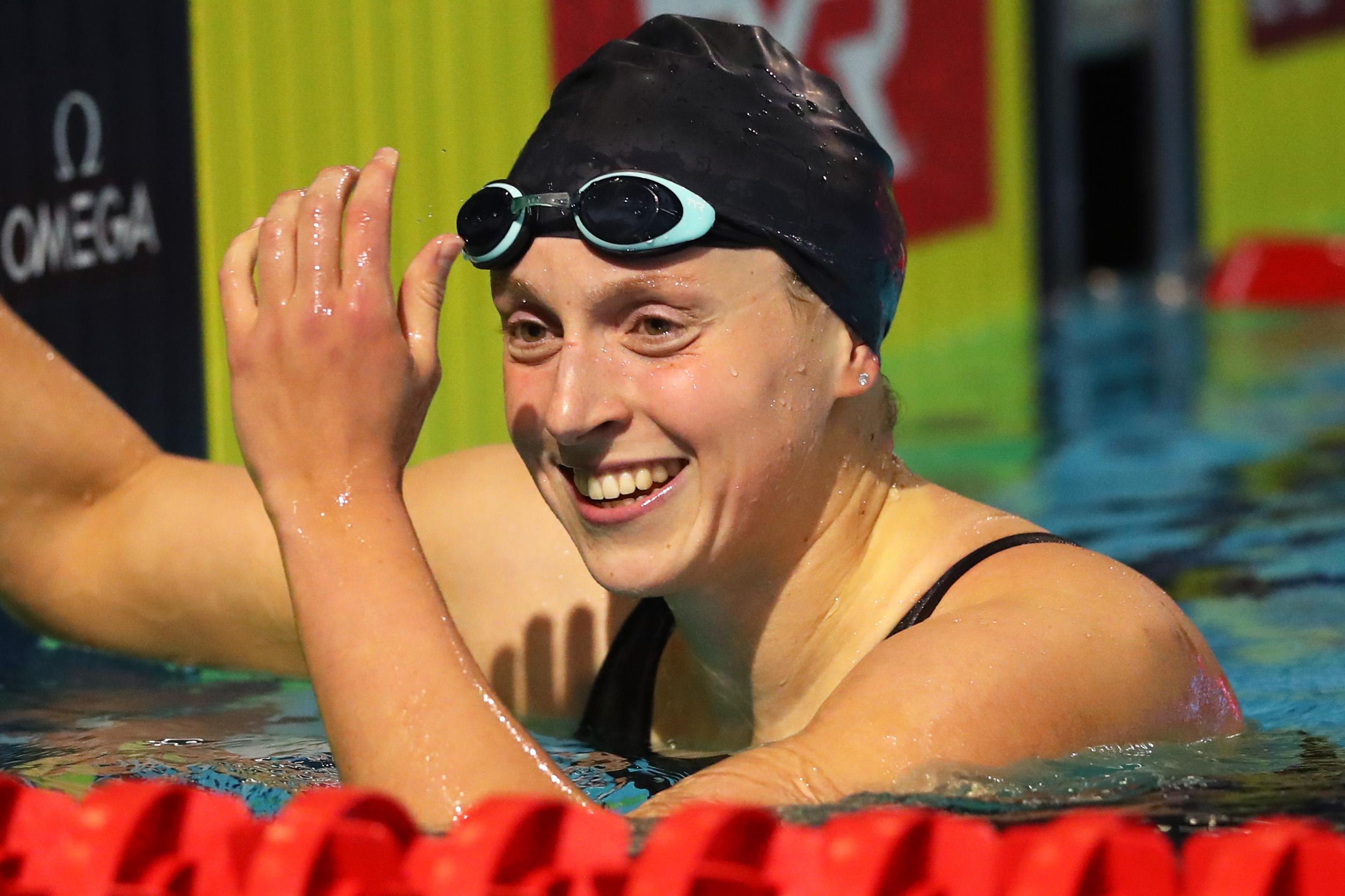 Olympic swimmer Katie Ledecky