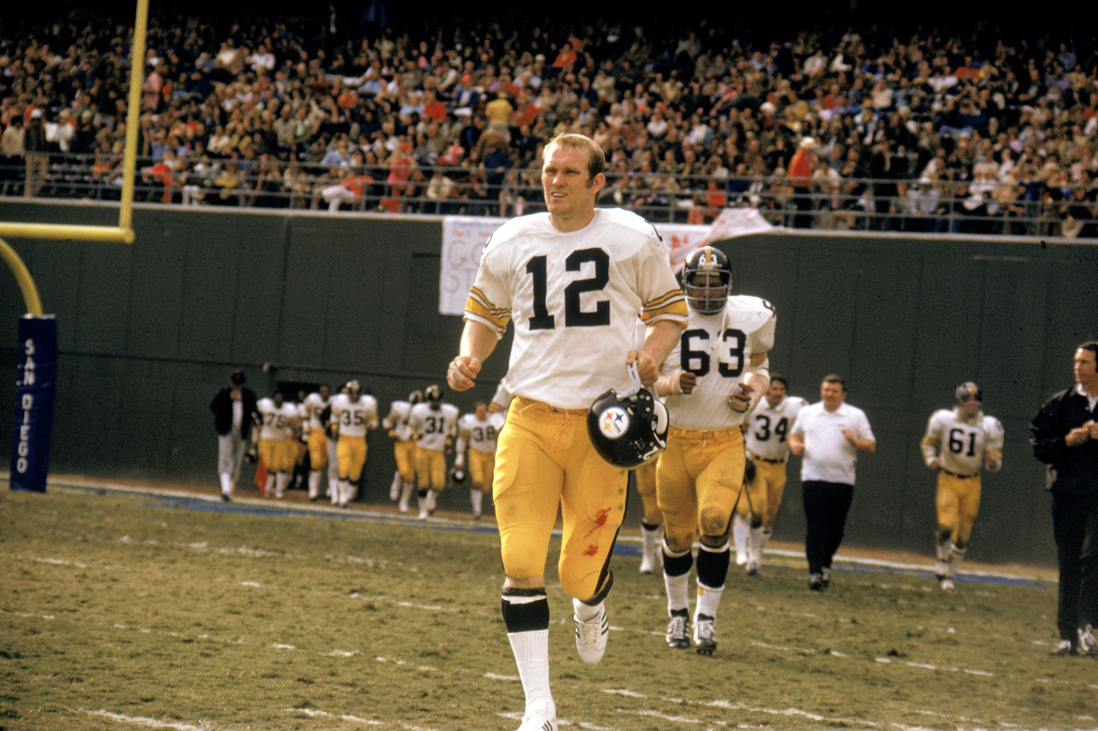 Terry Bradshaw of the Pittsburgh Steelers