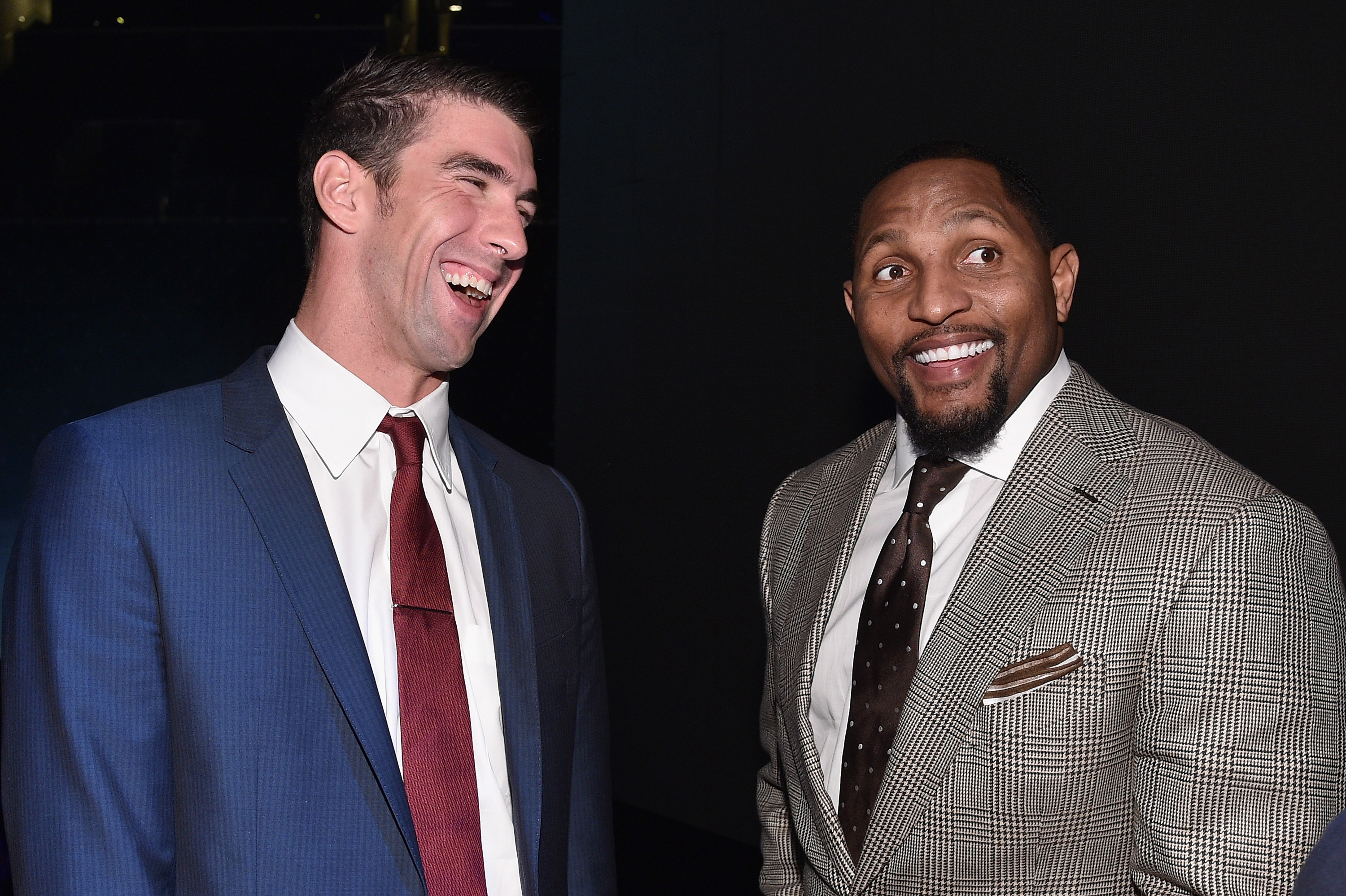 Michael Phelps and Ray Lewis attend the Sports Illustrated Sportsperson of the Year Ceremony