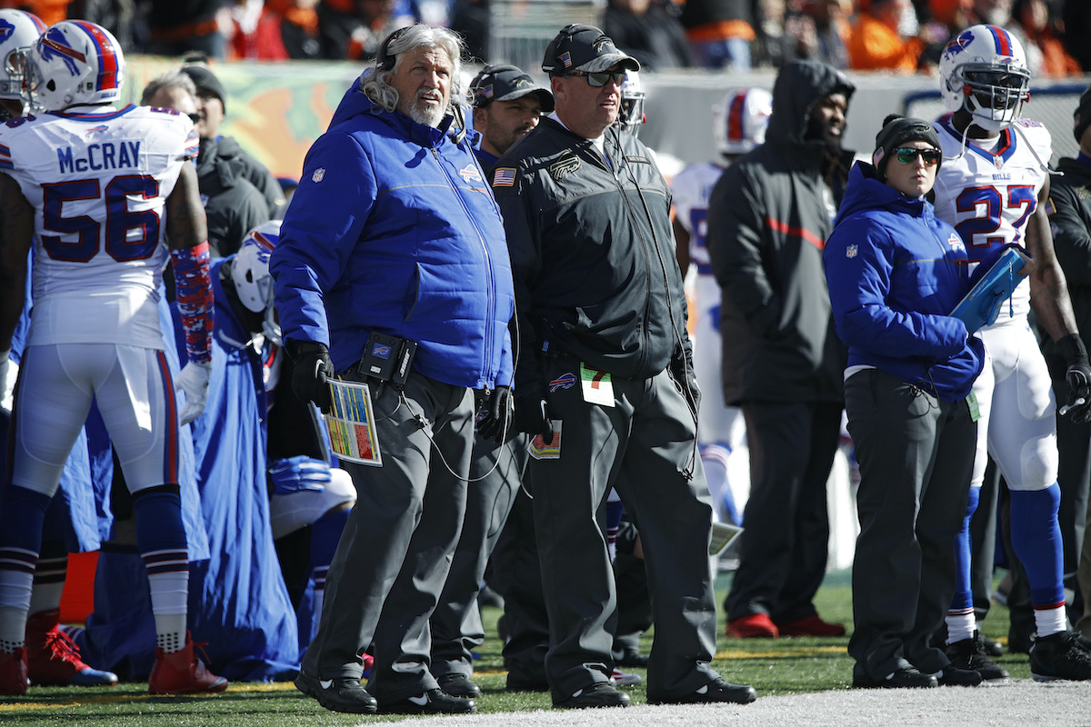 Coach Rex Ryan and assistant head coach Rob Ryan