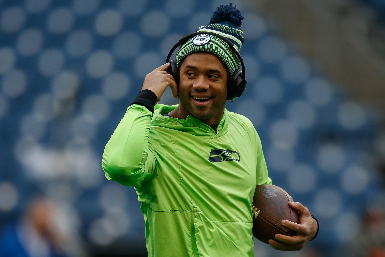 Russell Wilson Antonio Brown Seahawks NFL