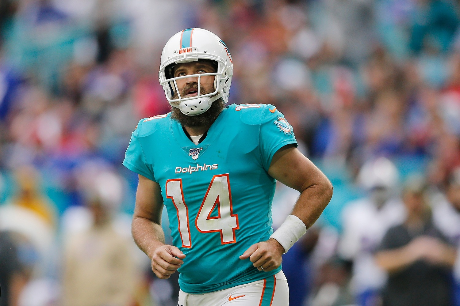 Miami Dolphins quarterback Ryan Fitzpatrick missed Saturday's scrimmage after suffering a tragic loss with his mom's untimely death.