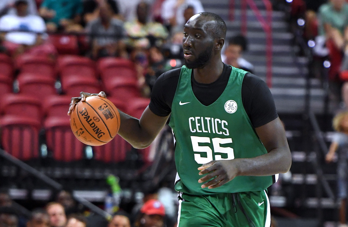 Tacko Fall playing basketball