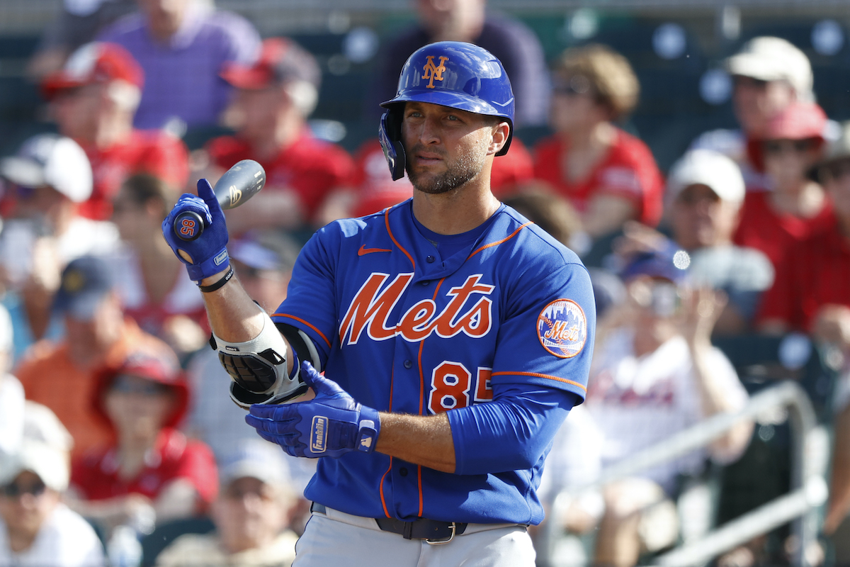 New York Mets' Tim Tebow