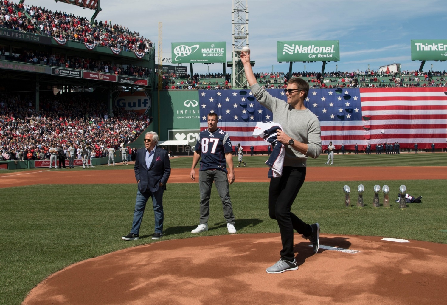 Tom Brady has a twin sister who is married to former Red Sox star Kevin Youkilis.