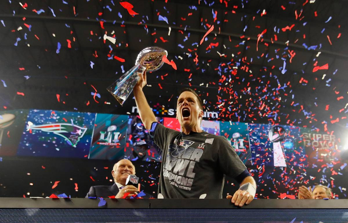 Tom Brady won six Super Bowl titles with the New England Patriots.