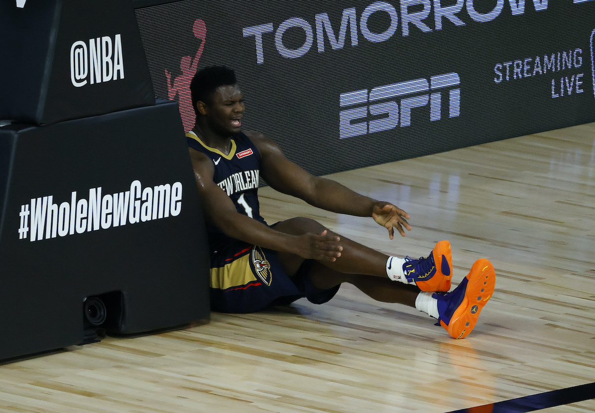 Pelicans player Zion Williamson