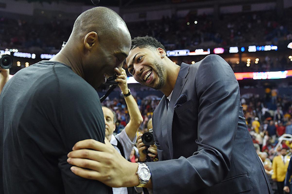 Anthony Davis and Kobe Bryant