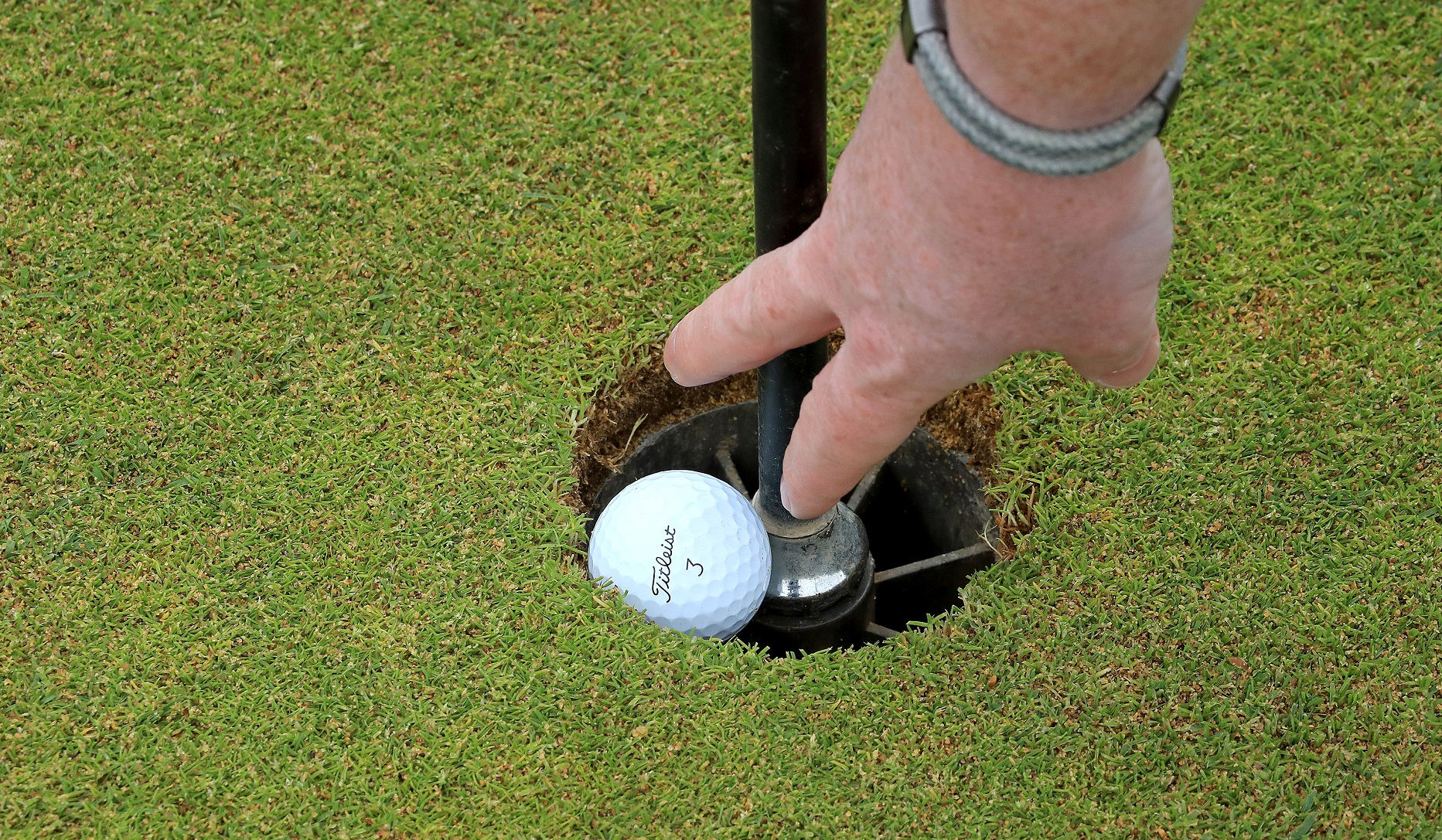 Hole-in-one with a putter