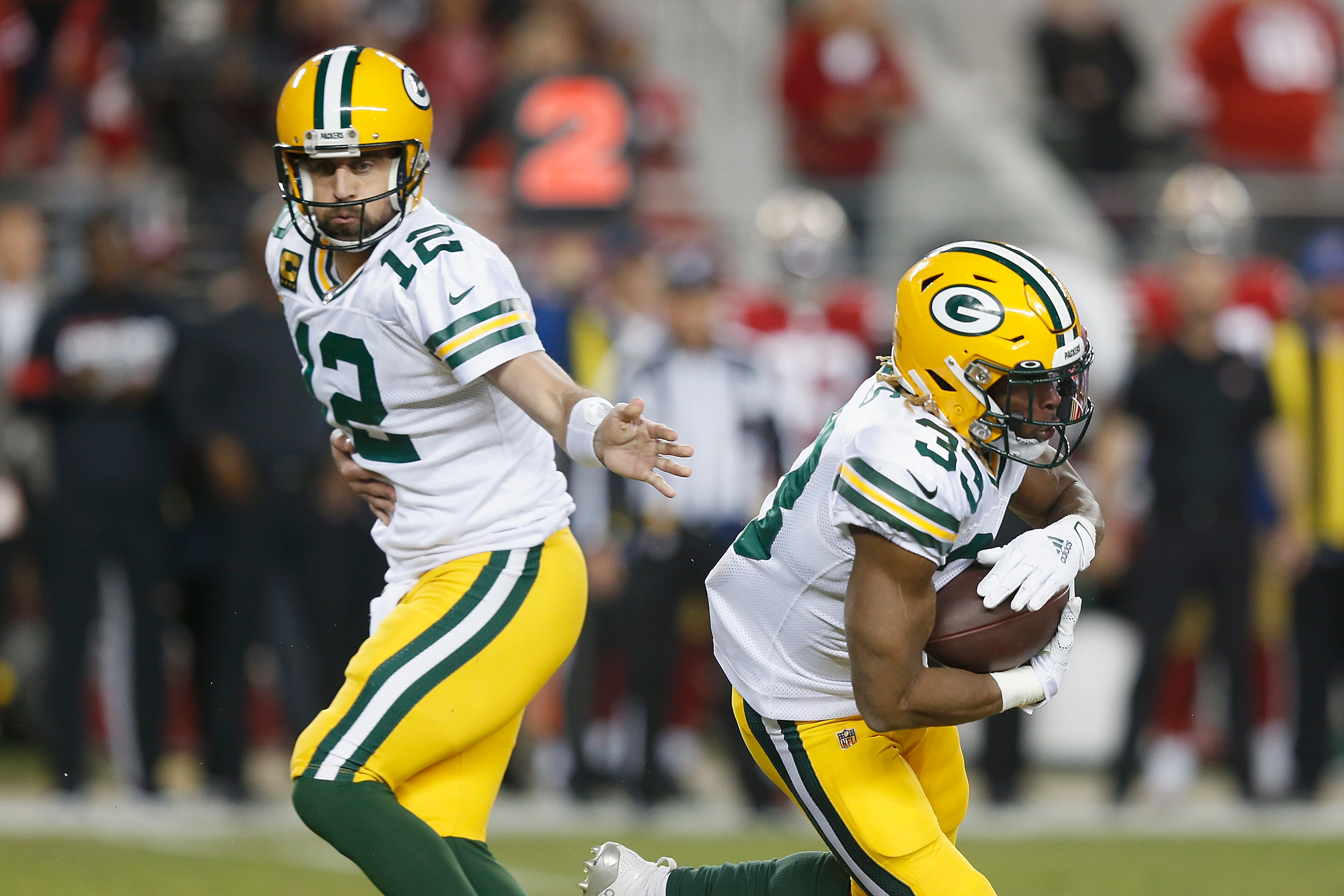 Aaron Jones and Aaron Rodgers are on fire for the Green Bay Packers.