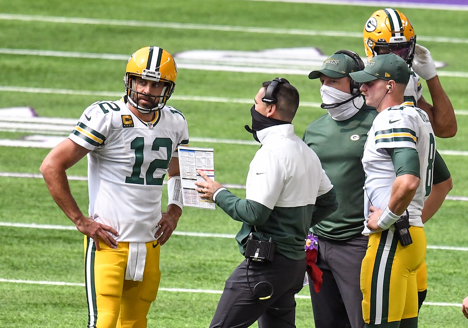 Aaron Rodgers Matt LaFleur Packers downplay injury