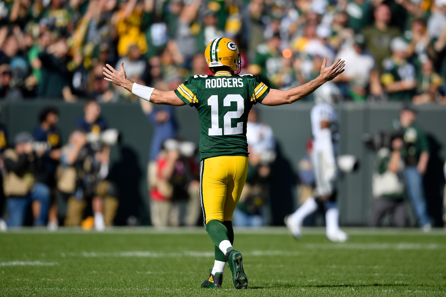 Aaron Rodgers wears a thong